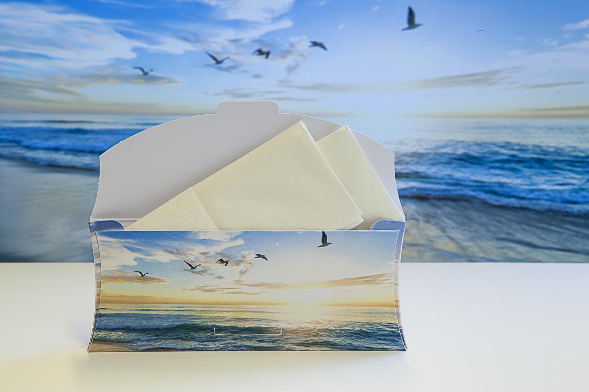 Troostenvelop open met tissues voorbeeld